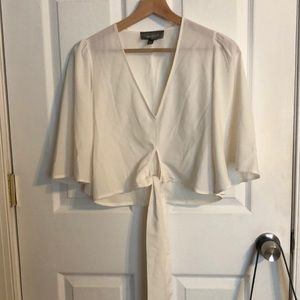 Xs ivory deep v blouse from Nordstrom!